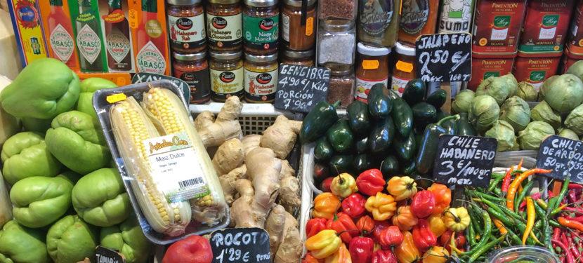 Lebensmittel shoppen in Barcelona