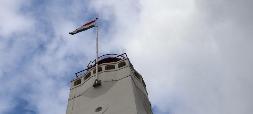 Überraschung am Leuchtturm von Noordwijk aan Zee